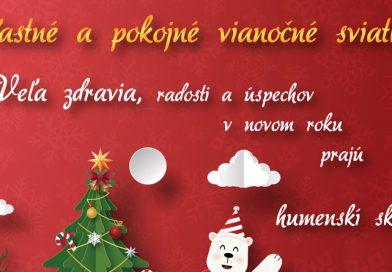 Šťastné a pokojné vianočné sviatky